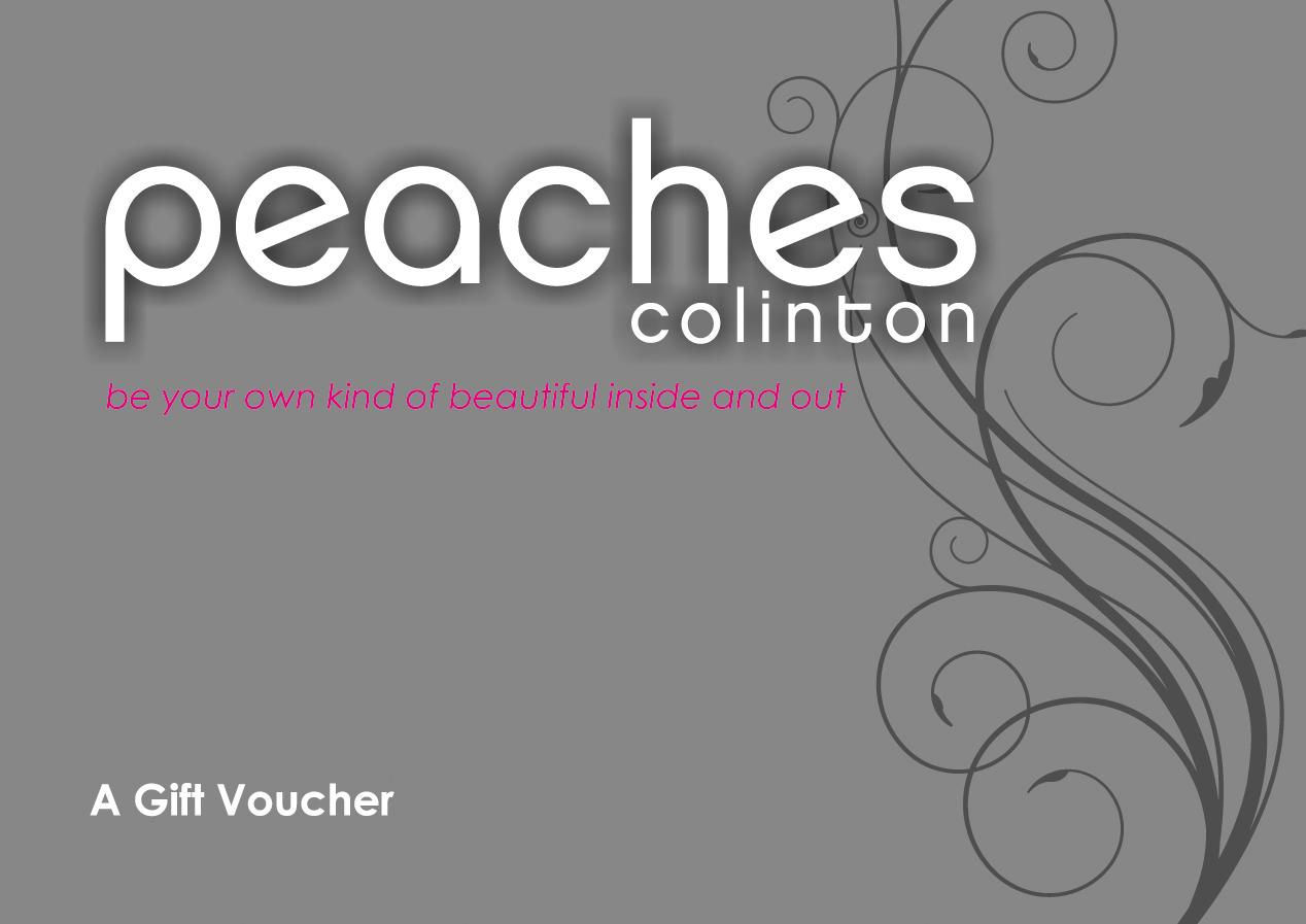 E14730_Peaches Colinton_A6 folded to A7_Voucher
